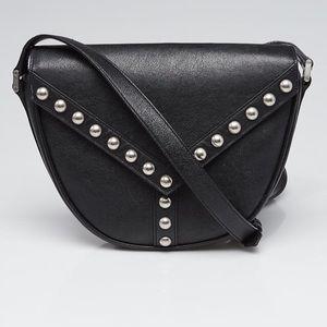 Saint Laurent YSL Black Studded Crossbody Bag